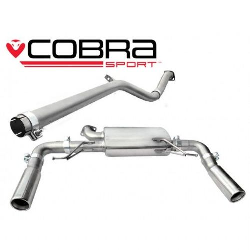 Cobra Sport Renault Clio 197 Cat Back Exhaust (Non-Resonated) RN03